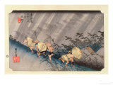 The 53 Stations of the Tokaido, Station 45: Shono-juku, Mie Prefecture Giclee Print by Ando Hiroshige