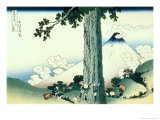 36 Views of Mount Fuji, no. 16: Mishima Pass in Kai Province Giclée-Druck von Katsushika Hokusai