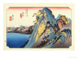 The 53 Stations of the Tokaido, Station 10: Hakone-juku, Kanagawa Prefecture Giclee Print by Ando Hiroshige