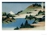 36 Views of Mount Fuji, no. 34: The Lake of Hakone in the Sagami Province Giclée-Druck von Katsushika Hokusai