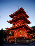 Three-Story Pagoda of Kiyomizu Temple (Kiyomizudera), Kyoto, Japan, Photographic Print