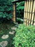 Stepping Stones, Shinshin-An, Kyoto, Japan Photographic Print