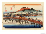 The 53 Stations of the Tokaido, The End: Sanjo O-Hashi, Kyoto Giclee Print by Ando Hiroshige