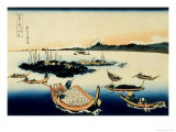 36 Views of Mount Fuji, no. 12: Tsukada Island in the Musashi Province Giclée-Druck von Katsushika Hokusai