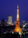 Night View of Tokyo Tower Papier Photo