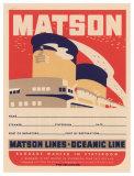 Matson Lines Oceanic Line Giclee Print