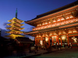Sensoji Temple and Pagoda Photographic Print