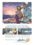 Couple on Deck, Matson to Hawaii Giclee Print