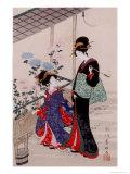 Beauties Giclee Print by Toyokuni Kitagawa