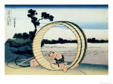 36 Views of Mount Fuji, no. 10: Fujimigahara in the Owari Province Giclée-Druck von Katsushika Hokusai