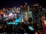 Night View of Shiodome Photographic Print