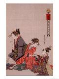 Skönhet Gicléetryck av Kitagawa Utamaro