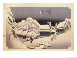 The 53 Stations of the Tokaido, Station 15: Kanbara-juku, Shizuoka Prefecture Giclee Print by Ando Hiroshige