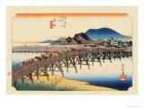 The 53 Stations of the Tokaido, Station 38: Okazaki-shuku, Aichi Prefecture Giclee Print by Ando Hiroshige