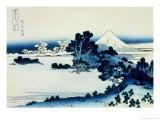 36 Views of Mount Fuji, no. 13: Shichiri Beach in Sagami Province Giclée-Druck von Katsushika Hokusai