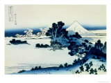 36 Views of Mount Fuji, no. 13: Shichiri Beach in Sagami Province Giclee Print by Katsushika Hokusai