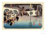 The 53 Stations of the Tokaido, Station 47: Seki-juku, Mie Prefecture Giclee Print by Ando Hiroshige