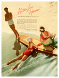Matson, Surfboard by Hula Girl Giclee Print