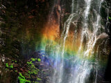 Rainbow and Water Falls Photographic Print
