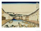 36 Views of Mount Fuji, no. 31: Nihonbashi Bridge in Edo Giclee Print by Katsushika Hokusai