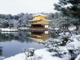 Kinkakuji Temple in Snow Photographie