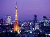 Night View of Tokyo Tower Papier Photo