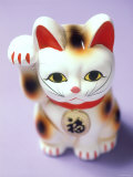 Lucky Mascot Cat (Maneki-Nekko), Japan Fotografisk trykk