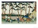 36 Views of Mount Fuji, no. 36: Hodogaya on the Tokaido Giclée-Druck von Katsushika Hokusai