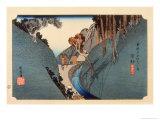 The 53 Stations of the Tokaido, Station 21: Okabe-juku, Shizuoka Prefecture Giclee Print by Ando Hiroshige