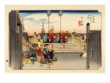 The 53 Stations of the Tokaido, The Start: Nihonbashi, Tokyo Giclee Print by Ando Hiroshige