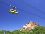 Mt. Showa Shinzan and Cable Car Photographic Print