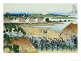36 Views of Mount Fuji, no. 38: Pleasure District at Senju Giclee Print by Katsushika Hokusai