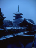 Toji Pagoda in Snow Photographic Print