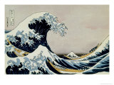 36 Views of Mount Fuji, no. 1: The Great Wave off Kanagawa Giclee Print by Katsushika Hokusai