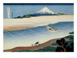 36 Views of Mount Fuji, no. 8: Tama River in the Musashi Province Giclee Print by Katsushika Hokusai