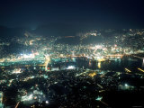 Night View of Nagasaki Port Photographic Print