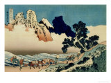36 Views of Mount Fuji, no. 42: The Back of the Fuji from the Minobu River Giclée-Druck von Katsushika Hokusai