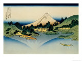 36 Views of Mount Fuji, no. 35: Reflected in Lake Kawaguchi, Seen from the Misaka Pass, Kai Provinc Giclée-Druck von Katsushika Hokusai