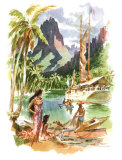 Tahiti Reproduction proc&#233;d&#233; gicl&#233;e par Louis Macouillard