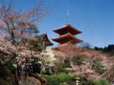 Pagoda at Kiyomizu Temple (Kiyomizudera), Kyoto, Japan Photographic Print