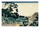 36 Views of Mount Fuji, no. 5: From the Mishima Pass Giclee Print by Katsushika Hokusai