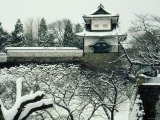 Kanazawa Castle Covered with Snow in Winter, Ishikawa, Japan Photographic Print