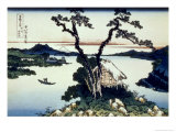 36 Views of Mount Fuji, no. 17: Lake Suwa in the Shinano Province Reproduction proc&#233;d&#233; gicl&#233;e par Katsushika Hokusai