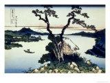 Katsushika Hokusai - 36 Views of Mount Fuji, no. 17: Lake Suwa in the Shinano Province - Giclee Baskı
