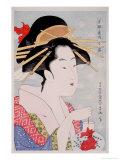 Skönhet Gicleetryck av Kitagawa Utamaro