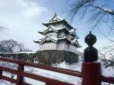 Hirosaki Castle in the Snow, Aomori, Japan Photographic Print
