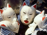 Children with Fox Masks at Local Festival, Nara, Japan Photographic Print