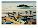 36 Views of Mount Fuji, no. 40: Nakahara in the Sagami Province Giclee Print by Katsushika Hokusai