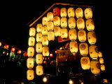 Lanterns on Gion Festival Eve, July, Kyoto, Japan Photographic Print