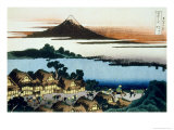 36 Views of Mount Fuji, no. 41: Dawn at Isawa in the Kai Province Giclée-Druck von Katsushika Hokusai